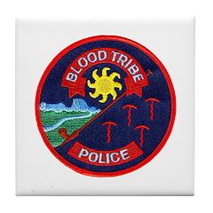 Blood Tribe Police Tile Coaster