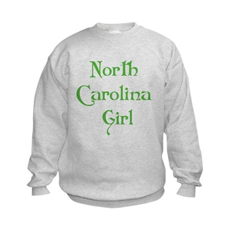 North Carolina Girl Kids Sweatshirt
