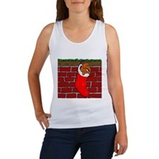 Weiner Dog Xmas Sock Women's Tank Top