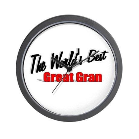 """The World's Best Great Gran"" Wall Clock"