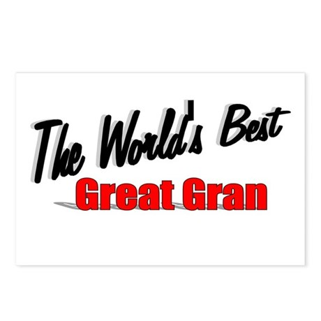 """The World's Best Great Gran"" Postcards (Package o"