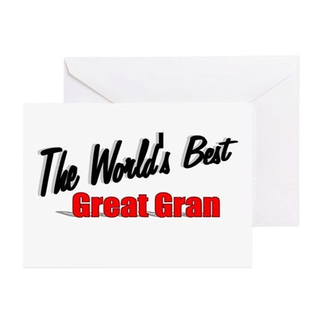 """The World's Best Great Gran"" Greeting Cards (Pk o"
