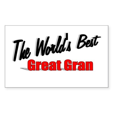 """The World's Best Great Gran"" Sticker (Rectangular"