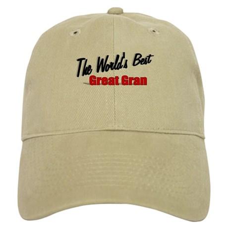 """The World's Best Great Gran"" Cap"