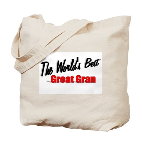 """The World's Best Great Gran"" Tote Bag"