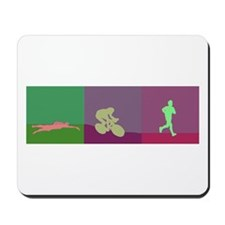 TRIATHLON SILHOUTTE NEGATIVE Mousepad