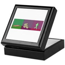 TRIATHLON SILHOUTTE NEGATIVE Keepsake Box