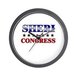 SHERI for congress Wall Clock