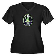 Alien Yogi Women's Plus Size Dark V-Neck