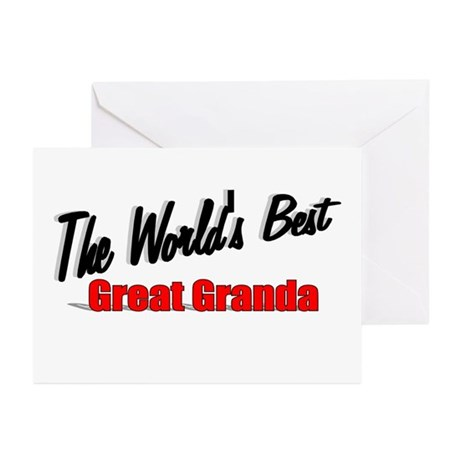 """The World's Best Great Granda"" Greeting Cards (Pk"