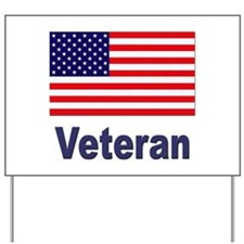 American Flag Veteran Yard Sign