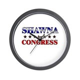 SHAWNA for congress Wall Clock