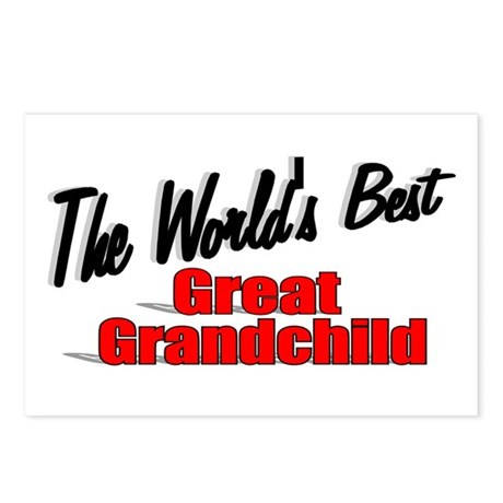 """The World's Best Great Grandchild"" Postcards (Pac"