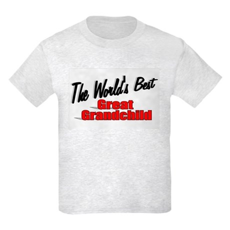 """The World's Best Great Grandchild"" Kids Light T-S"