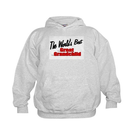 """The World's Best Great Grandchild"" Kids Hoodie"