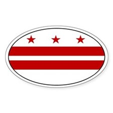 Washington DC Oval Decal