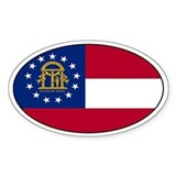 Georgia Flag Oval Decal
