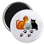 Fish Bowl Kittys Magnet