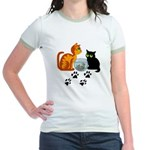 Fish Bowl Kittys Jr. Ringer T-Shirt