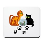 Fish Bowl Kittys Mousepad
