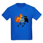 Fish Bowl Kittys Kids Dark T-Shirt