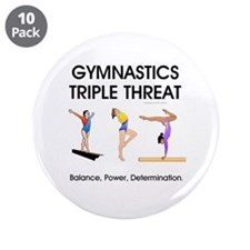 "TOP Gymnastics Slogan 3.5"" Button (10 pack)"