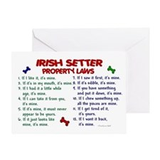 Irish Setter Property Laws 2 Greeting Card