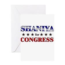 SHANIYA for congress Greeting Card