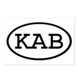 KAB Oval Postcards (Package of 8)