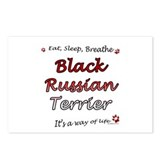 Black Russian Breathe Postcards (Package of 8)