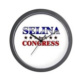 SELINA for congress Wall Clock