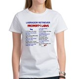 Labrador Retriever Property Laws 3 Tee