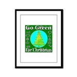 Go Green For Christmas Framed Panel Print