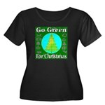 Go Green For Christmas Women's Plus Size Scoop Nec