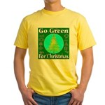 Go Green For Christmas Yellow T-Shirt