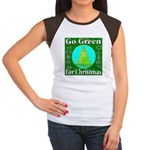Go Green For Christmas Women's Cap Sleeve T-Shirt