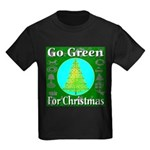 Go Green For Christmas Kids Dark T-Shirt