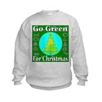 Go Green For Christmas Kids Sweatshirt