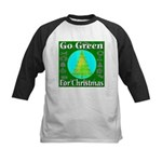 Go Green For Christmas Kids Baseball Jersey