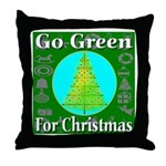 Go Green For Christmas Throw Pillow