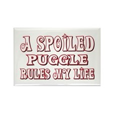 Spoiled Puggle Rectangle Magnet (100 pack)