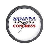 SAVANNA for congress Wall Clock