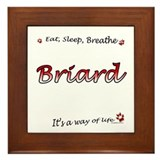 Briard Breathe Framed Tile
