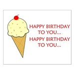 HAPPY BIRTHDAY (ICE CREAM) Small Poster