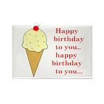 HAPPY BIRTHDAY (ICE CREAM) Rectangle Magnet (10 pa