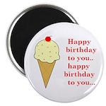 HAPPY BIRTHDAY (ICE CREAM) Magnet