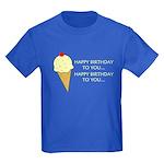 HAPPY BIRTHDAY (ICE CREAM) Kids Dark T-Shirt