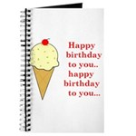 HAPPY BIRTHDAY (ICE CREAM) Journal