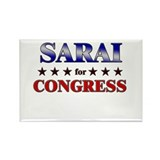 SARAI for congress Rectangle Magnet