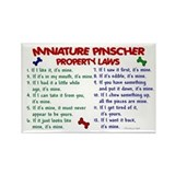 Miniature Pinscher Property Laws 2 Rectangle Magne